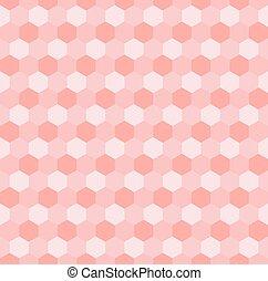 Hexagonal mosaic - Hexagonal pink mosaic seamless...