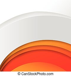 Abstract wave orange background vector illustration