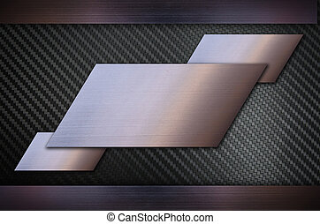 Carbon fiber with Stainless steel metal texture background