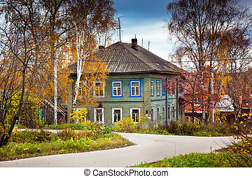 Old country house in Russia. Russian village