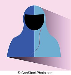 Doodle Muslimah religious islamic - vector Doodle Muslimah...