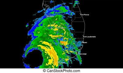 Hurricane Wilma (2005) Landfall - Hurricane Wilma Doppler...