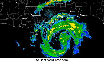 Hurricane Isaac 2012 Landfall - Hurricane Isaac Doppler...
