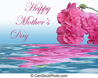 Happy Mothers Day pink carnation - Happy Mothers Day...