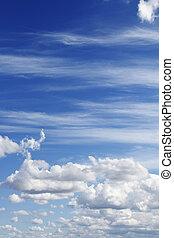 Clouds - Fluffy clouds in a blue sky