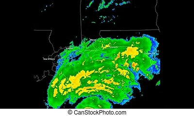 Hurricane Ivan (2004) Landfall - Time Lapse Doppler Radar...