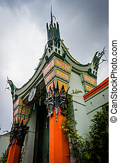 The TCL Chinese Theatre, in Hollywood, Los Angeles,...