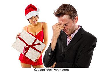 Broke On Christmas - girlfriend seducing broke or stressed...