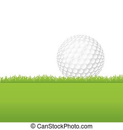 Golf Ball Sitting on a Grass - An illustration of a...