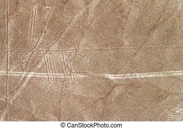 Nazca Lines Dog - Nazca Lines dog geoglyph in Peru