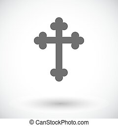 Cross single icon - Cross Single flat icon on white...