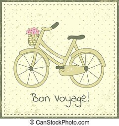 bike postcard - Greeting card template with bike...