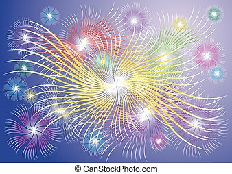 abstract explosion background (fireworks)