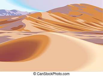 desert hills illustration  as nice natural background