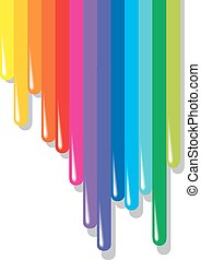 color pallette  isolated on the white background