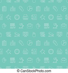 office line icon pattern set