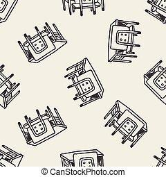 school desk doodle