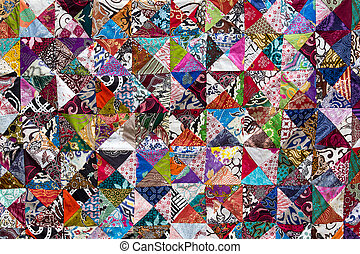 Colorful crazy quilt for sale, Island Bali, Ubud, Indonesia