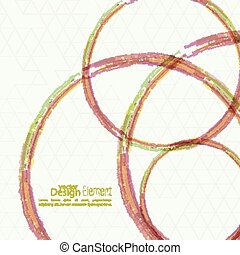 Abstract background with colored round hoops, trellis...