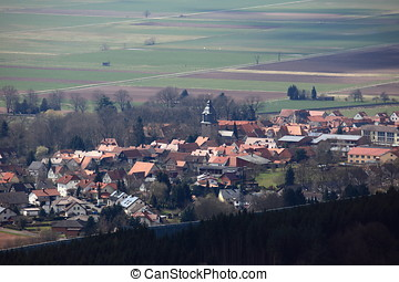 The Village of Herleshausen in Germ