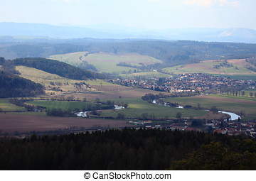 The Werra River valley in Germany