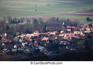 The Village of Herleshausen in Germany