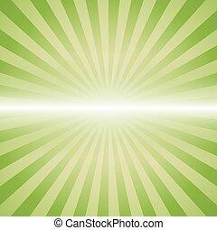 green color burst background.