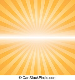orange color burst background. Vector illustration