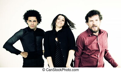 Funny people making crazy faces