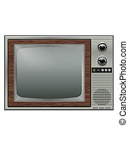 Retro tv - etro tv isolated on the white background