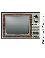 Retro tv - etro tv isolated on the white background
