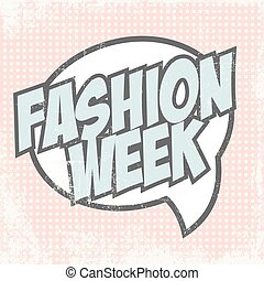 Print - fashion week background, illustration in vector...