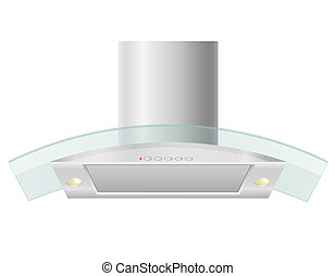 extractor hood for kitchen illustration