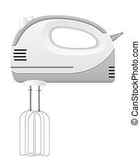 kitchen mixer illustration isolated on white background