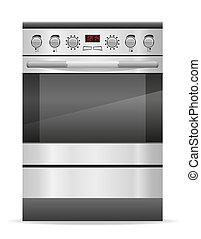stove for kitchen illustration