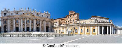 Saint Peter square in Vatican. Panorama.