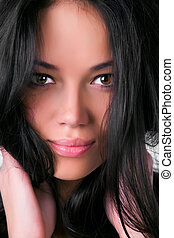 Young woman portrait - Young brunette woman portrait