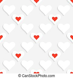 Valentine Background - 3d Abstract Vector Valentine...