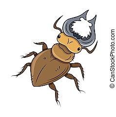 Cartoon Dangerous Insect Vector