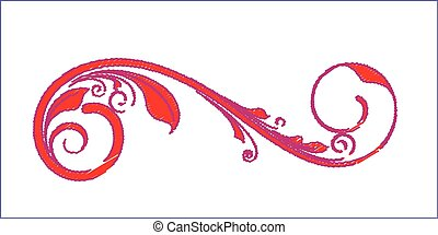 Retro Swirl Floral