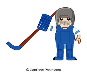 Cartoon Ice Hockey Player