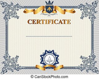 Certificate or coupon Vector Clipart Illustrations. 5,778 ...