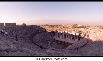 Hierapolis theater, Pamukkale, Denizli. TURKEY - Hierapolis...