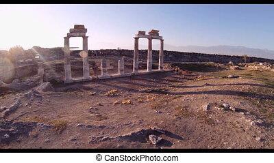 Hierapolis theater, Pamukkale, Denizli. - Hierapolis...