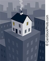 High rise living - A conceptual image of a residential home...