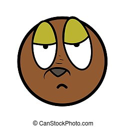 Sleepily Cartoon Face Expression - Lazy Sleepy Cartoon...