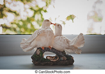 Figures of pigeons 1782 - Figures of pigeons and wedding...