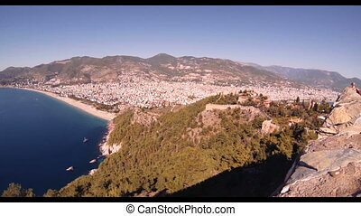 ALANYA CASTLE - ALANYA KALES? view from the mountains to the...