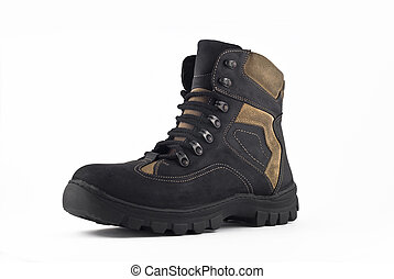 Warm leather boot for wearing in winter or traveling...