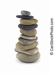 Stability - Balanced pebble stack